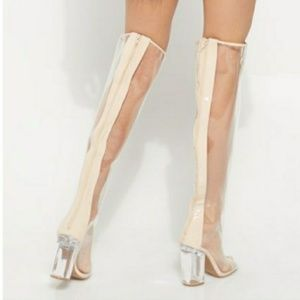😍 *NEW* Clear Over The Knee Boots!!!! 😍 Sale!!!!